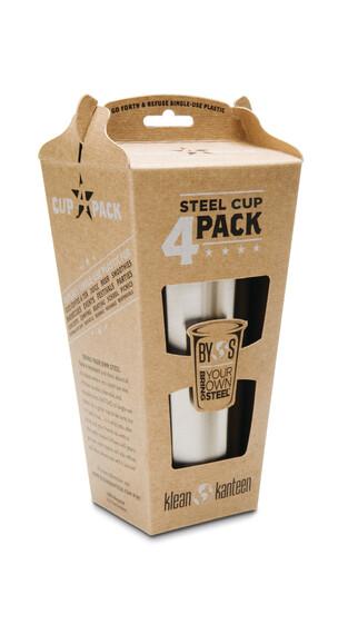 Klean Kanteen Steel Drinkfles 295ml 4-delige set grijs
